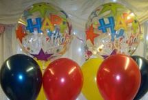 Birthday Balloons / Various colours and designs for birthdays.