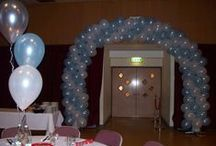 Spiral Arches / Large spiral arches are ideal for corporate events.
