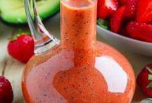Salaatinkastikkeita - Salad dressings / Salaatit kruunaa hyvä kastike. Parhaita ne ovat itse tehtyinä.