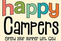 Happy Campers Children's Ministry Ideas / Use these fun ideas along with our new Happy Campers 8-Week Children's Ministry Curriculum. / by Children's Ministry Deals