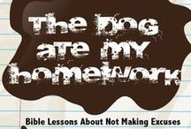 The Dog Ate My Homework Children's Ministry Curriculum Ideas / Teach kids Bible lessons about not making excuses. Use these fun ideas along with our The Dog Ate My Homework 4-Week Children's Ministry Curriculum.  / by Children's Ministry Deals
