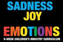 Emotions Children's Ministry Curriculum Ideas / Teach kids Bible lessons based on the feelings we all have. Use these fun ideas along with our new Emotions 5-Week Children's Ministry Curriculum.  / by Children's Ministry Deals
