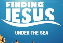 Finding Jesus Under the Sea Children's Ministry Curriculum Ideas / Teach kids Bible lessons based on the fun creatures God has put in the ocean! Use these fun ideas along with our Finding Jesus Under the Sea 12-Week Children's Ministry Curriculum.  / by Children's Ministry Deals