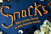 Snacks Children's Ministry Curriculum Ideas / Teach kids Bible lessons based on their favorite snacks. Use these fun ideas along with our Snacks 12-Week Children's Ministry Curriculum. / by Children's Ministry Deals