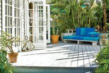 Outdoor Accents / Interior design often tends to move outside onto the patio and into the garden.