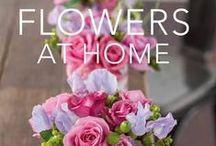 Flowers at Home book by Sandra Kaminski and photographer Geoff Hedley / ideas using fresh flowers and an imaginative range of accessories.