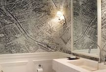 Wall Coverings / Mulberry Interiors often uses wall-coverings in residential room designs.