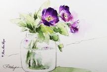 PINTURA ACUARELAS = Watercolors Painting