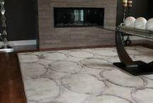 Area Carpets / Interior design using beautiful area carpets as part of the room design.