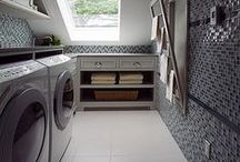 Laundry Rooms / laundry rooms made more beautiful and more efficient through interior design.