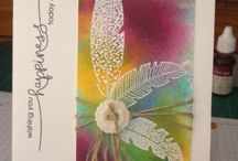 Feather cards / Cards with feathers