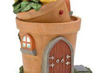 Fairy / Mini Gardens / Cup Gardens, etc. / All kinds of mini gardens & fairy gardens in different kinds of containers such as teacups, baskets, pails, cans & more!
