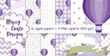 Digital Papers, Clipart & Digiscrap Kits / digital papers & clipart for sale in my online stores