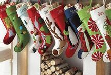 Christmas stockings / Designs and ideas for personalised Christmas stockings