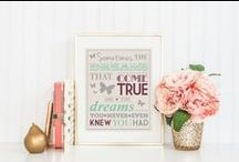 Framed Art / beautiful framed art that features quotes, poems and text that I love