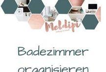 Badezimmer organisieren / Ideen für Ordnung im Badezimmer, sowie Aufbewahrungsmöglichkeiten für Handtücher, Make up und viele weitere Ordnungstipps rund ums Thema Badezimmer organisieren.