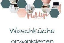 Waschküche organisieren / Tipps rund um das Thema Wäsche waschen und schöne Ideen zu Waschküchen Gestaltung.