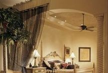 Decorative Rooms / Using curtains to separate rooms / by Gina Barbera