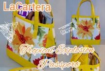 La Cartera's Sewing Bags, Purse Tutorials & More / Professed Handmade Handbag Junkie, creative designer of purses and tote bag , using upclycled, recycled, and repurposed materials. Some materials are from foreign destinations.  Check it out and make one for yourself.