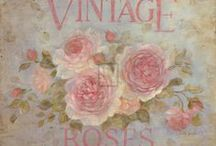 "✿⊱╮VINTAGE ROSE✿⊱╮ / ""Love is like a rose. When pressed between two lifetimes, it will last forever."" ~ Unknown Author"