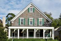 American House Styles  / From colonial, victorian, prairie style through post-modern, with many styles in-between.   Our american house styles are a melting pot of interesting designs.  / by Kathy Small