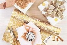 g i f t w r a p  / Glamorous gift wraping  / by Fallon Carmichael | Sage + Sparkle