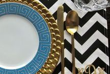 t a b l e s c a p e s  / Chic table settings and decor  / by Fallon Carmichael | Sage + Sparkle