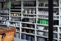 Ideas: Storage in the Kitchen  / Some great ideas, tips & overall inspiration for storing food, plates, cutlery, spices ... in your kitchen!