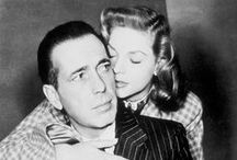 Bogie and Bacall / She was only 19 when they met and he was 25 years her senior, but from the moment Humphrey Bogart asked Lauren Bacall to write her number on a matchbox in 1944, it was on. The duo married a year later and enjoyed one of the most legendary — albeit short-lived — love stories in Hollywood history. / by Jenny Werner