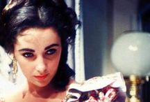 """Elizabeth Taylor / Dame Elizabeth Rosemond """"Liz"""" Taylor, DBE (February 27, 1932 – March 23, 2011) was a British-American actress. From her early years as a child star with MGM, she became one of the great screen actresses of Hollywood's Golden Age. As one of the world's most famous film stars, Taylor was recognized for her acting ability and for her glamorous lifestyle, beauty, and distinctive dark blue eyes, which famously appeared to be violet. / by Jenny Werner"""
