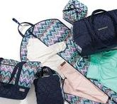 Midnight Calypso / All things Midnight Calypso by cinda b.  This pattern introduced for Spring/Summer 2016 features deep navy accented with pops of pink, green and lavender.  Everything in the Midnight Calypso collection is machine washable, water resistant, stain resistant and proudly Made in America!  Available in travel bags, totes, handbags, cosmetics and accessories at www.cindab.com and at a local cinda b retailer near you.