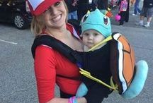 Baby Carrier & Pregnancy Costumes / Get creative with your baby carrier and baby bump for Halloween and make coordinating baby and adult costumes! Plenty of DIY suggestions too.