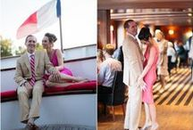 Péniche pour mariage romantique / Un mariage au bord de l'eau, quel romantisme ! Sur la Seine et ailleurs...