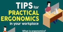 Ergonomics at your Workplace  - Infographics / Ergonomics is the study of working efficiency in the office environment. Find out the Do's and Don'ts here and get maximum output from yourself and colleagues.