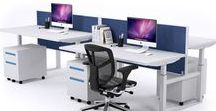 JasonL 4 Person Bench-Style Workstations / Our office workstations are adaptable and functional due to our portable workbench desks being modular in design so whilst our work-benches are ideal for commercial office environments they also are very popular amongst students and studying environments