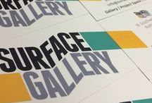 Posters From Our Exhibitions / Photographs of art and events from all the exhibitions held at Surface Gallery, Nottingham. We have a brilliant design team to produce our flyers and posters.