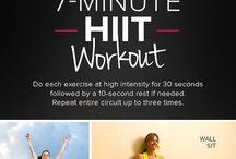 Workouts / Exercise routines etc