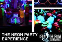 Neon Party Ideas / We have an array of Neon Party options for your next event!  Bring out the glowsticks and white clothes!