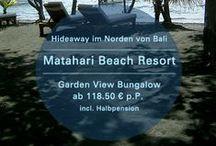 Matahari Pemuteran Bali / Zwischen Gebirgsformationen und feinem, dunklen Lavastrand, findet der Gast im Matahari Beach Resort Bali eine Oase der Ruhe und Erholung. ✔ http://bit.ly/matahari-pemuteran