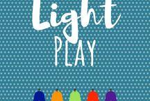 Light Play / Light table activities | Light and Dark | Shadow Theatre