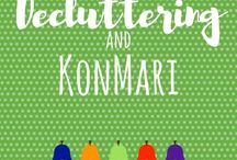 Decluttering and KonMari / Feeling overwhelmed? Tips and ideas to organise your home | KonMari method | Decluttering