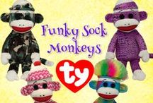 Funky Sock Monkey / Join in the sock monkey fun with our fun collection of funky sock monkey pals!