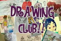 DRAWING CLUB!! / Time to draw your imagination!! Comment if you wanna join and invite some friends *RULES* 1.Respect people's artworks 2. Only Pin YOUR ARTWORK! NO STEALING ARTWORK! NO CHAINMAIL! If you don't follow any of these rules you'll be removed