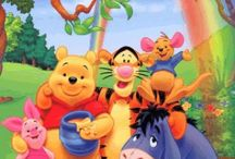 Winni the Pooh Bear / Deep in the 100 Acre Wood, inside a tree, lives the lovable, Winnie the Pooh Bear. He's stuffed with fluff & awfully fond of Hunny. Tigger-Roo-Eeyore-Owl-Rabbit & Christopher Robin are his best friends.