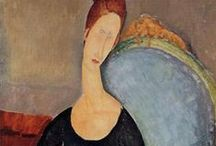 Modigliani / Amedeo Clemente Modigliani (12 July 1884 – 24 January 1920) was an Italian painter and sculptor who worked mainly in France. He is known for portraits and nudes in a modern style characterized by elongation of faces and figures, that were not received well during his lifetime, but later found acceptance. During his life, Amedeo Modigliani had little success, but after his death he achieved greater popularity and his works of art achieved high prices.  (From Wikipedia)
