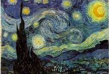 Van Gogh / Vincent Willem van Gogh (30 March 1853 – 29 July 1890) was a Post-Impressionist painter. He was a Dutch artist whose work had a far-reaching influence on 20th-century art. His output includes portraits, self portraits, landscapes and still lifes of cypresses, wheat fields and sunflowers. In just over a decade, he produced more than 2,100 artworks, including 860 oil paintings and more than 1,300 watercolors, drawings, sketches and prints.  (From Wikipedia)