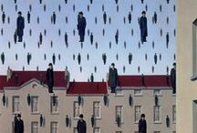 Magritte / René François Ghislain Magritte (21 November 1898 – 15 August 1967) was a Belgian surrealist artist. He became well known for a number of witty and thought-provoking images that fall under the umbrella of surrealism. His work is known for challenging observers' preconditioned perceptions of reality.  (From Wikipedia)