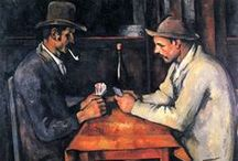 Cezanne / Paul Cézanne (19 January 1839 – 22 October 1906) was a French artist and Post-Impressionist painter whose work laid the foundations of the transition from the 19th-century conception of artistic endeavour to a new and radically different world of art in the 20th century. Cézanne's often repetitive, exploratory brushstrokes are highly characteristic and clearly recognizable. He used planes of colour and small brushstrokes that build up to form complex fields. (From Wikipedia)