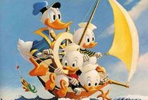 Carl Barks oils / Carl Barks oils with Disney characters
