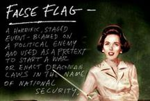 Conspiracy, cover up 'n false flags